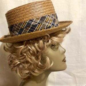 1950 BROOKS BROTHERS PANAMA STRAW HAT MENS/WOMENS
